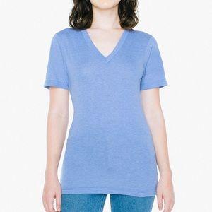 American Apparel Tri-Blend V-Neck T-Shirt